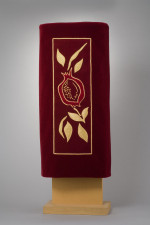 Pomegranate Torah Cover. Temple Beth Sholom, Miami Beach, FL. Laurie Gross Studios © 2007.