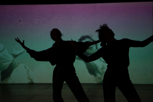 Photo: Karl Cooney, Pictured: Hadar Ahuvia & Mor Mendel, Projections: Gil Sperling, Lights: Kryssy Wright