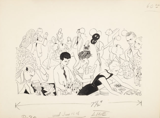 care and handling of parties june 16, 1957.ink on paper