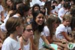 Rising Voices Fellow, Mica Maltzman, celebrating Shabbat at her sleep-away camp.