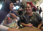 Nafisa Shtawey, left, and Naama Burstein at the Friday Women Event