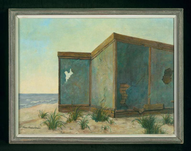 """Old Walls by the Sea"" by Mina Krocherthaler, ~1968 Art in Exile, Leo Baeck Institute"