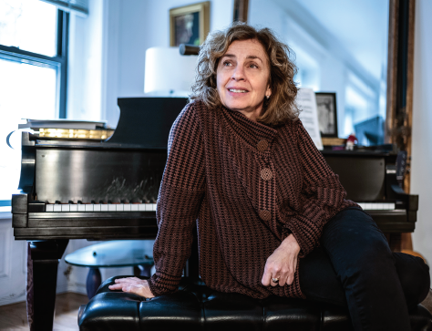 Eleanor Reissa in her Manhattan apartment. Photographed by Joan Roth, December 11,2019.
